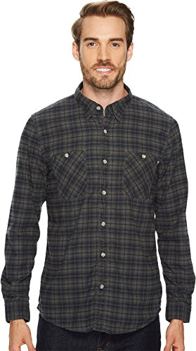 Timberland Long Sleeve Plaid (Timberland Men's Back River Small Plaid Flannel Shirt, Black Yd, Medium)