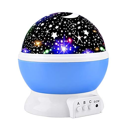 Elmchee Star Night Light for Kids, Universe Night Light Projection Lamp, Romantic Star Birthday Projector Lamp for Bedroom ()