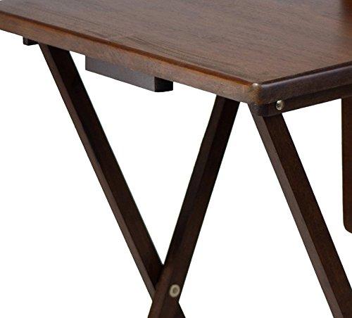 Winsome Wood TV Table, Antique Walnut Finish, Set of 4