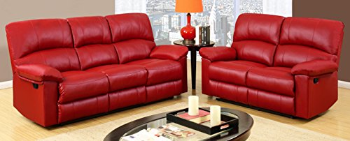 Red Barrel Reclining Loveseat & Sofa, Deep Cushioned Soft Seat & Back, Reclining Footrest, Extra Comfort