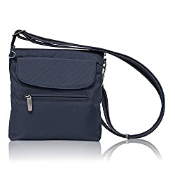 Travelon Anti-theft Classic Mini Shoulder Bag (Blue - Exclusive Color)