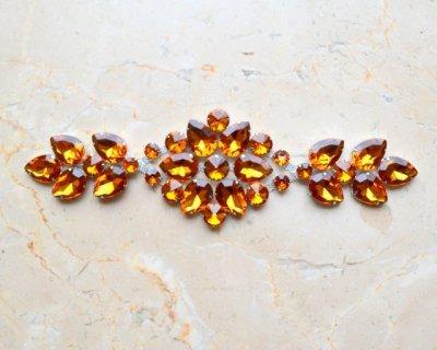 Lucinda acrylic jewel ornament (dark (Dark Topaz Rhinestone)