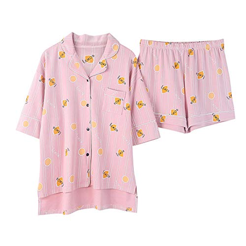 Sleepwear nbsp; Pigiama Cotone Notte Corta Meaeo Home Donne Color Photo Ragazza Casual Size nbsp;Estate Short Le Cute Service nbsp; Camicia Manica In Da Per Plus qqvwBt