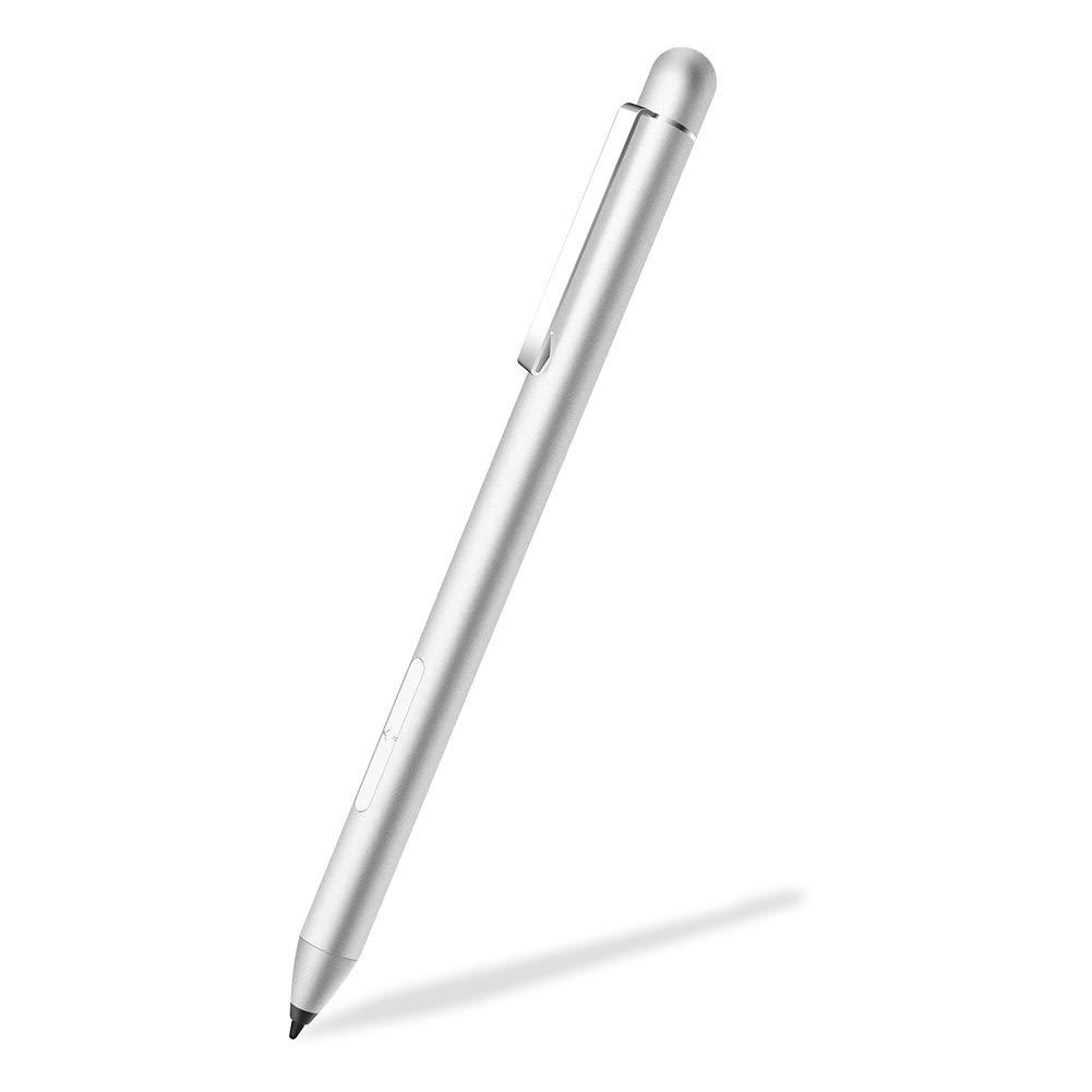 Stylus Active Pen for HP Pavilion x360 11m-ad0 14M-ba0 14-cd0 15-br0; HP Envy x360 15-bp0 15-bq0, x360 15-cn0, X2 12-e0xx,X2 12g0xx ; HP Spectre x360 13-ac0xx 15-blxxx (Silver)