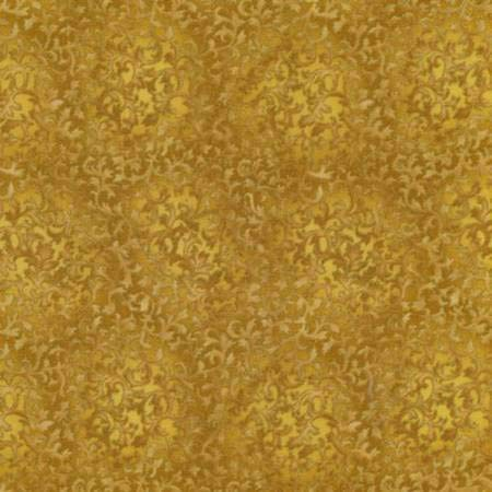 Antique Metallic Gold, Mini Scroll Texture, Accent Fabric, Fusions Metallic Collection, Robert Kaufman, EYJM6644199, by The Yard