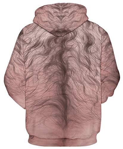 Lunga Uomo Plus Galassia Felpe Manica Con Unicorno Sweatshirt Pullover Divertimento Cappuccio Animali Capelli Autunno Ocean Pettorali t5AqUwnxt