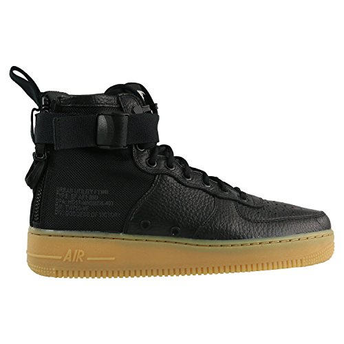 NIKE Mens SF Air Force 1 Mid Shoes Black/Gum/Light Brown 917753-003 Size 10.5