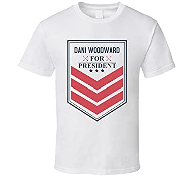 Dani Woodward For President Funny Best Ever Female Porn Star Cool Fan T Shirt L White