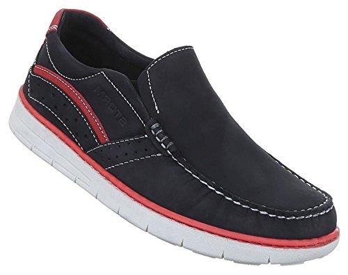 innen 46 43 blau Herren 45 und Halbschuhe 44 Leder Schwarz Loafers Slipper schwarz 42 41 Schuhe außen npXp7wZq