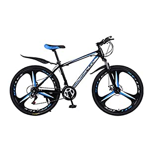 7Lucky Commuting Mountain Bike, Adult Student Outdoors Sports 26 Inch Road Bike Fashion 21-Speed Gear Shift System Bicycle
