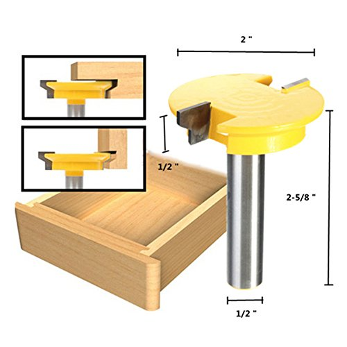 1/2 inch Shank Rail Stile Router Bit Shaker Woodworking Chisel Cutter Set BephaMart BM00001