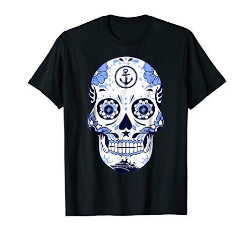 Skull Sailor T-Shirt | Funny Halloween Job Tee