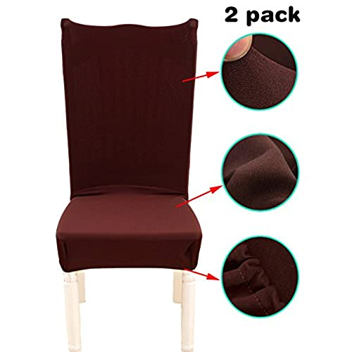 ANJUREN Stretch Chair Slipcovers Polyester Spandex Solid Covers Removable  Furniture Chair Protector Cover For Dining Room Hotel Banquet Wedding Party  ...