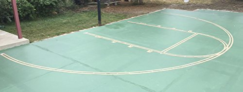 Easy Basketball Court Stencil Kit (Best Basketball For Concrete)