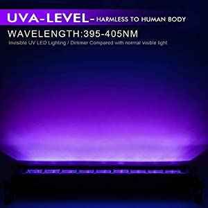Black Lights for Parties, OPPSK 27W 9LED UV Blacklight Bar fit for 16x16ft Neon Glow Party Birthday Wedding Stage Lighting Glow in The Dark Party Supplies Halloween Decorations