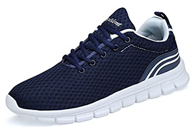 Belilent Men's Running Shoes - Lightweight Breathable Athletic Casual Shoes Fashion Sneakers,Navy/White,40 M EU / 7 D(M) US Men