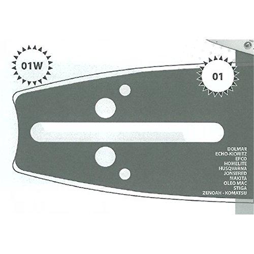 Guide tronçonneuse 45 CM adaptable ECHO CS5100 type 325 1.5mm 72 Maillons