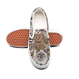 Aijhor Fas Womens slip on sneakers lightweight Cat Lovers Gifts canvas Running Shoes for women