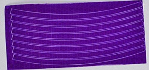 (OEM 10pcs/lot 40 Stripes Wheel 3m Car Rim Sticker Bike Reflective Strips for Motorcycle Safety Wheel Rim Stickers Tape Bikesticker (Purple))