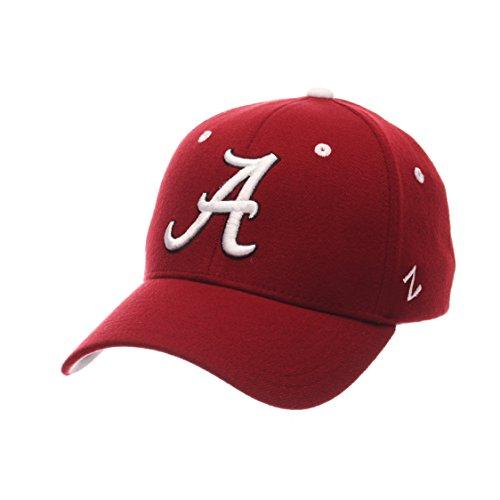 Football Stretch Hat (NCAA Alabama Crimson Tide Men's ZH Stretch Fit Cap, Cardinal, Medium/Large)