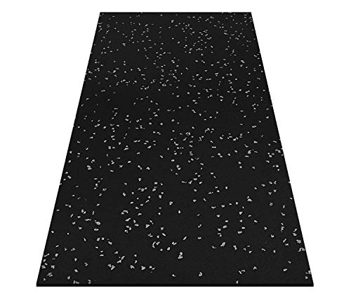 Titan Premium Rubber Multi Purpose Flooring, 4′ x 6′ x 5/16″, Durable, Non Slip, Non Absorbent, Home Gyms, Garages, Workshops (1.22m x 1.83m x 8mm)