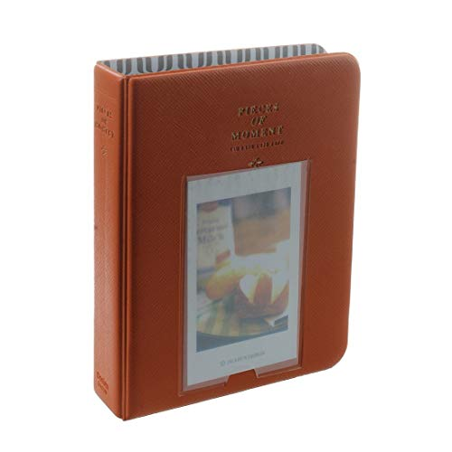 Photo Albums - Photo Album Storage Mini Film Fashion Orange - Horizontal Dogs Girl Electronic Monogrammed Trip Can Capacity 600 Bulk