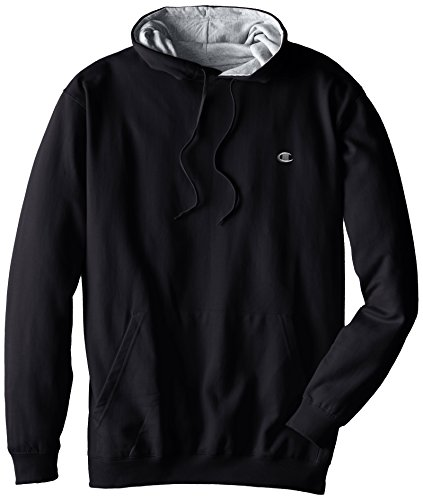Champion Men's Big-Tall Fleece Pullover Hoodie, Black, X-Large/Tall