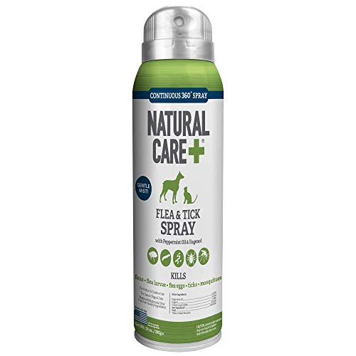Natural Care Flea and Tick Spray for Dogs and Cats, 14 oz, Made in the USA ()