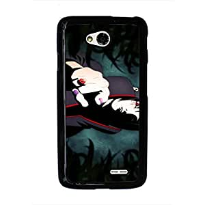 Naruto Phone Case Japanese Anime Naruto LG L70 Phone Cover Case Fashionable Black Phone Case LG L70 Smartphone Case Protector 148