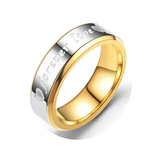 - Gnzoe Stainless Steel Men's Ring1 Pcs Heart Ring Engraved Forever Love Ring Gold Silver Size 12