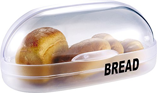Family Home Transparent Plastic Roll Top Bread Bin Bread Box 15'' X 8.5'' X 6.5'' by Family Home Products