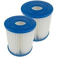 FreeLeben Pack De 2 Cartuchos De Filtro para Piscina, Accesorios De Filtro De Limpieza De Piscina Inflable De Repuesto…