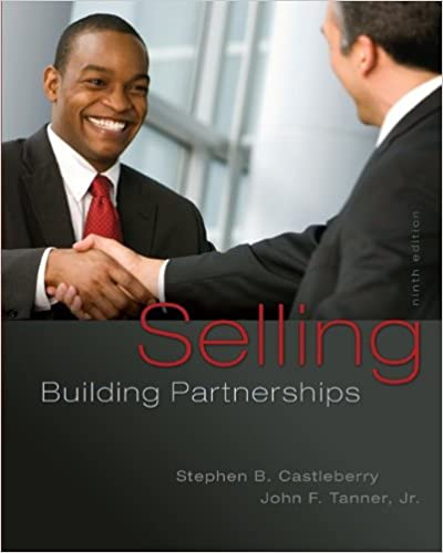 Selling building partnerships stephen b castleberry john f tanner selling building partnerships 9th edition fandeluxe Images