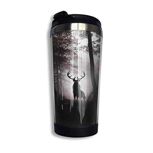 Coffee Thermos Cup Deer King Stainless Steel Travel Mug Cup Water Bottle ()