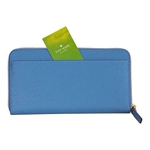 4b921c348723 Kate Spade New York Laurel Way Neda Saffiano Leather Zip Around Wallet,  (Tile Blue