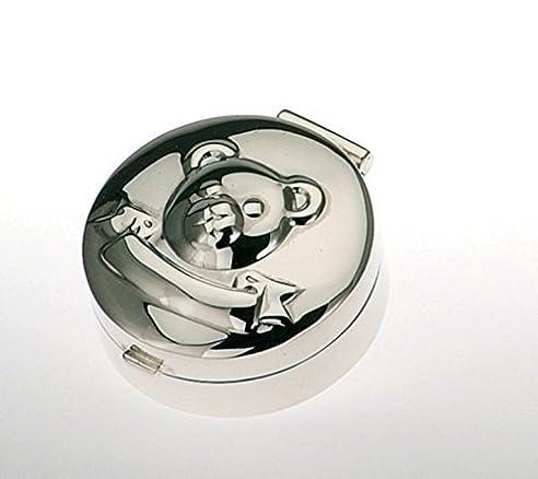 Kleine Zahndose-Lockendose- Motiv Teddybär- Sterling Silber 925er - gravurfähig