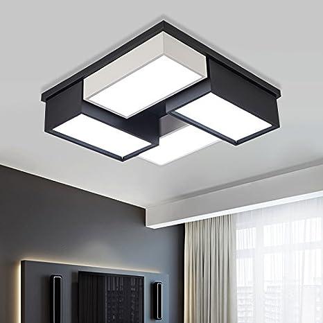 Cttsb Square-shaped led room lights simple modern bedroom lighting ...