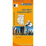 Michelin USA West, Kanada West: Straßen- und Tourismuskarte 1:2.400.000 (MICHELIN Regionalkarten, Band 585)