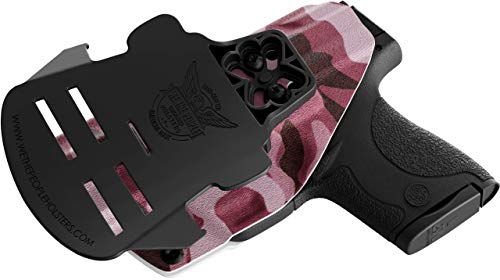We The People - OWB Holster Compatible with Ruger LCP II Gun - Outside  Waistband Concealed Carry Kydex Holster (Right Hand, Pink Camo)