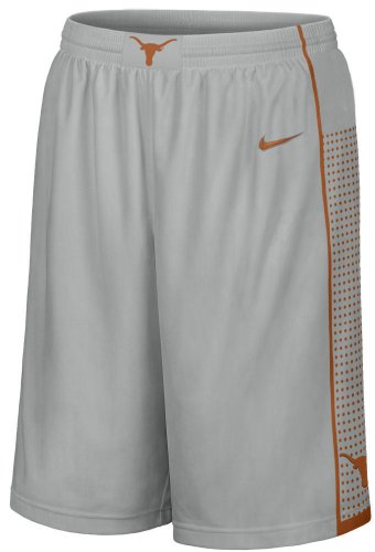 Texas Longhorns Grey 12 Inseam 2013 Embroidered Player Basketball Short By Nike (Small)