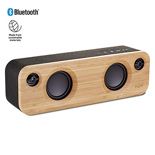 House of Marley Get Together Mini Wireless Portable Bluetooth Audio Speaker, Signature Black