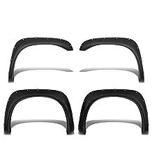 Dodge Ram DR/DH Pocket-Riveted Style ABS Plastic Side Fender Wheel Flares (Black)