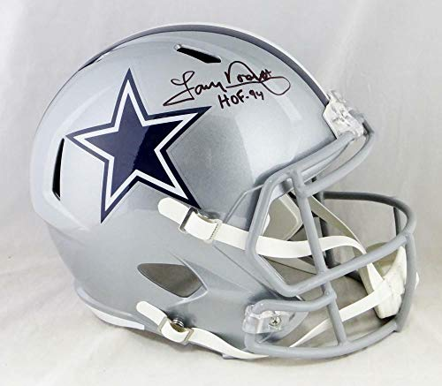 (Tony Dorsett Autographed Signed Dallas Cowboys F/S Speed Helmet with Hof- Beckett Auth Black - Certified Signature)