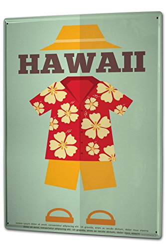 Tin Sign XXL metal plate plaque Holiday Travel Agency Hawaii by LEOTIE