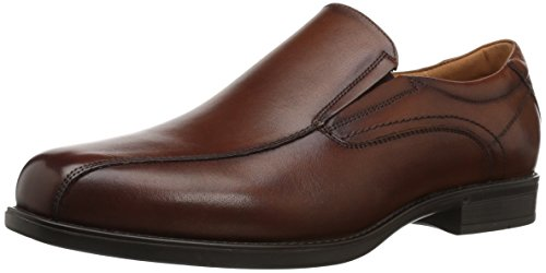 Florsheim Men's Medfield Bike Toe Slip Loafer Dress Shoe, Cognac, 10.5 Wide ()