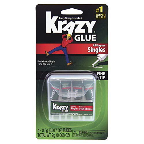 Elmer's Products KG582 Instant Crazy Glue 4-Single Use Tubes, ()