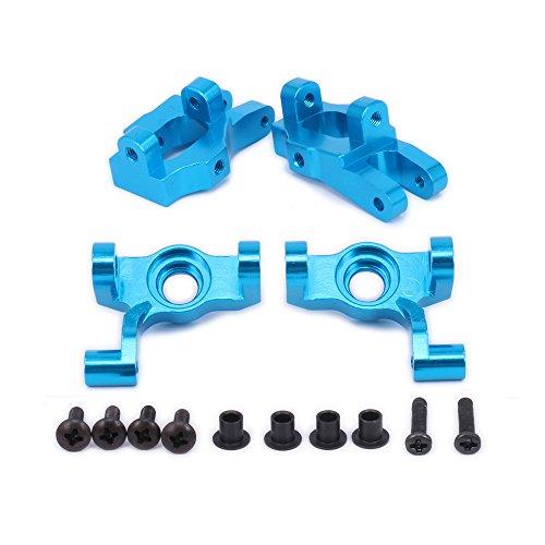 for 1/12 WLtoys Steering Front Hub Carrier(L/R) Base C Socket Set for 12428 12423 FY03 12628 Short Course Desert Feiyue Buggy Off-Road Upgrade Parts (Blue)