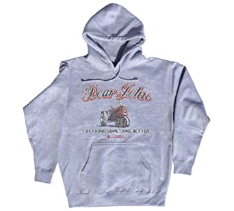 "Case IH Womens Gray ""DEAR JOHN I'VE FOUND SOMETHING BETTER"" HOODIE, Small,Gray"
