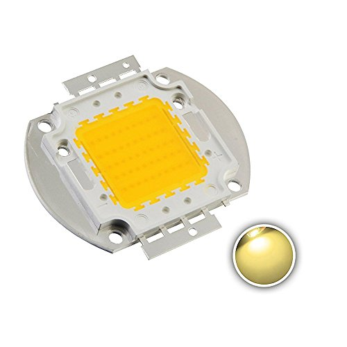 Chanzon High Power Led Chip 50W Warm White (3000K-3500K / Input 1500mA / DC 30-34V / 50 Watt) Super Bright Intensity SMD COB Light Emitter Components Diode 50 W Bulb Lamp Beads DIY Lighting
