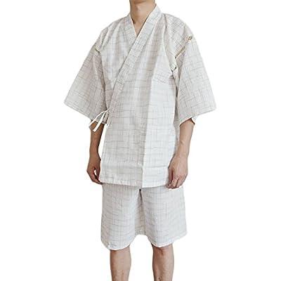 ZooBoo Men's Japanese Kimono Sleepwear- Vintage Summer Autumn HarajukuLoose Jacket ClothingCostume Bathrobe for Men